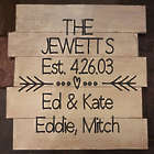 Family's Personalized Established Hand-Painted Pallet Sign