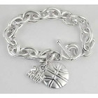 Sterling Silver Plated Engravable Basketball Bracelet