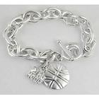 Sterling Silver Plated Engravable Basketball Bracelet