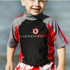 Boys UV50+ Rash Swim Top in Red, Black & Grey