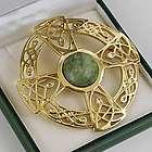 Large Gold Celtic Brooch
