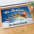 Personalized We Believe Christmas Doormat