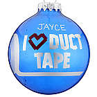 Personalized I Love Duct Tape Christmas Ornament