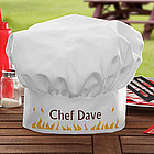 Personalized BBQ Grill Chef Hat