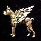 Boxer Guardian Angel Dog Pin