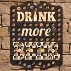 Drink More Beer Personalized Bottle Cap Wall Sign