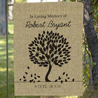 Personalized Memorial Burlap Garden Flag