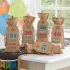 Birthday Burlap Wine Bag