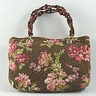 Dark Brown with Roses Handbag