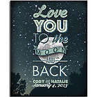 Love You to the Moon and Back Wall Plaque