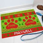 Personalized Dog Christmas Food Mat