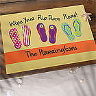 Flip Flops Personalized Summer Doormat