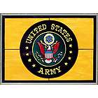 US Army Stained Glass Window Pane