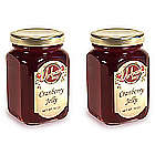 Two Jars of Gourmet Sweet Cranberry Jelly