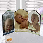 Photo Sentiments Petite Triple Photo Plaque