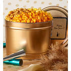 New Year's 2 Gallon 3-Flavor Gold Popcorn Tin