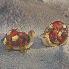 Solar Mosaic Turtle and Snail Garden Accents