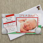 Little Slugger Baby Boy Photo Baby Announcements