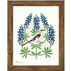 Birds and Blooms US State Framed Art
