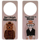 Hibernating and Come in Meow Door Hanger