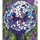 Purple Mosaic Gazing Ball with Metal Stand