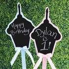 Cupcake Chalkboard Birthday Sign