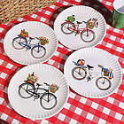 Vintage Bicycle Dinner Plates