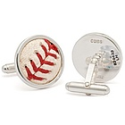 Chicago Cubs MLB Authenticated Baseball Stitches Cufflinks