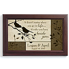 Personalized Bird Couple Framed Print