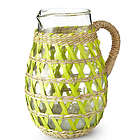 Woven Sea Grass Covered Pitcher