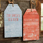 Coastal Home Personalized Wood Tag Decoration