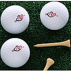 Personalized Cupid's Arrow� Valentine Golf Ball Set