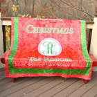 Personalized Family Christmas Throw Blanket