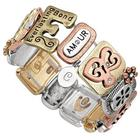 Personalized Love Sentiment Tile Bracelet