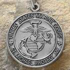 Personalized St. Michael Marines Medallion