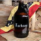Amber Glass Personalized 64-Ounce Beer Growler