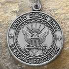 Personalized St. Michael Navy Medallion