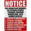 Notice - This Workplace Has Requirements Tin Sign