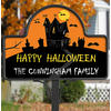 Personalized Halloween Haunted House Yard Stake