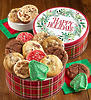 Happy Holidays 16 Assorted Cookies Gift Tin
