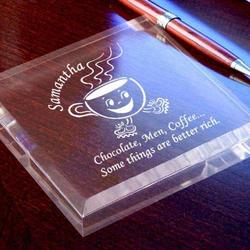 Personalized Coffee Cup Keepsake & Paperweight