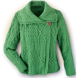 Aran Fashion Green Jacket Cardigan