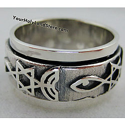 Sterling Silver Messianic Rotating Ring