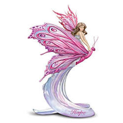 Breast Cancer Awareness Hope Fairy Figurine