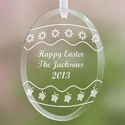 Personalized Easter Egg Glass Suncatcher
