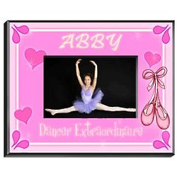 Personalized Dancer Girl's Picture Frame