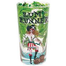 Handpainted Rum Runner Cocktail Glass