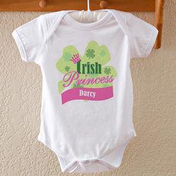 Baby Girl's Personalized Irish Princess Bodysuit