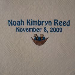 Noah's Ark Personalized Embroidered Baby Blanket
