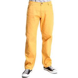 Men's Yellow Skinny Fit Pants